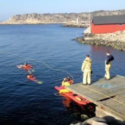 Räddningstjänst övar i Kullaviks Hamn